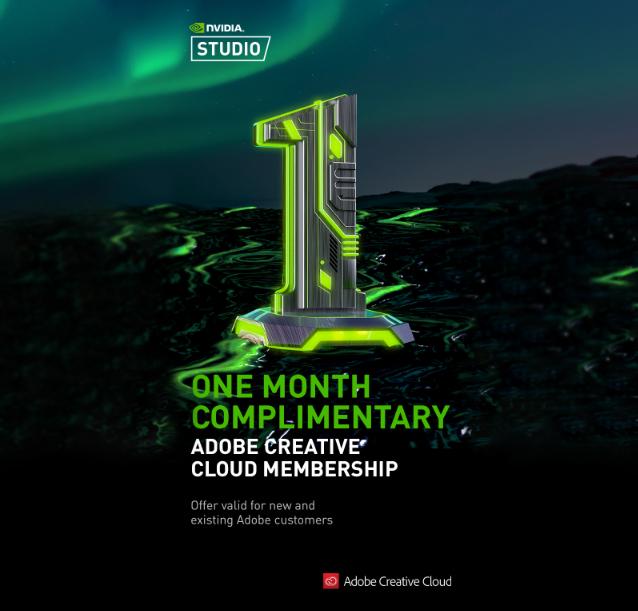 Miesiąc Adobe Creative Cloud ZA DARMO w aplikacji Geforce Experience