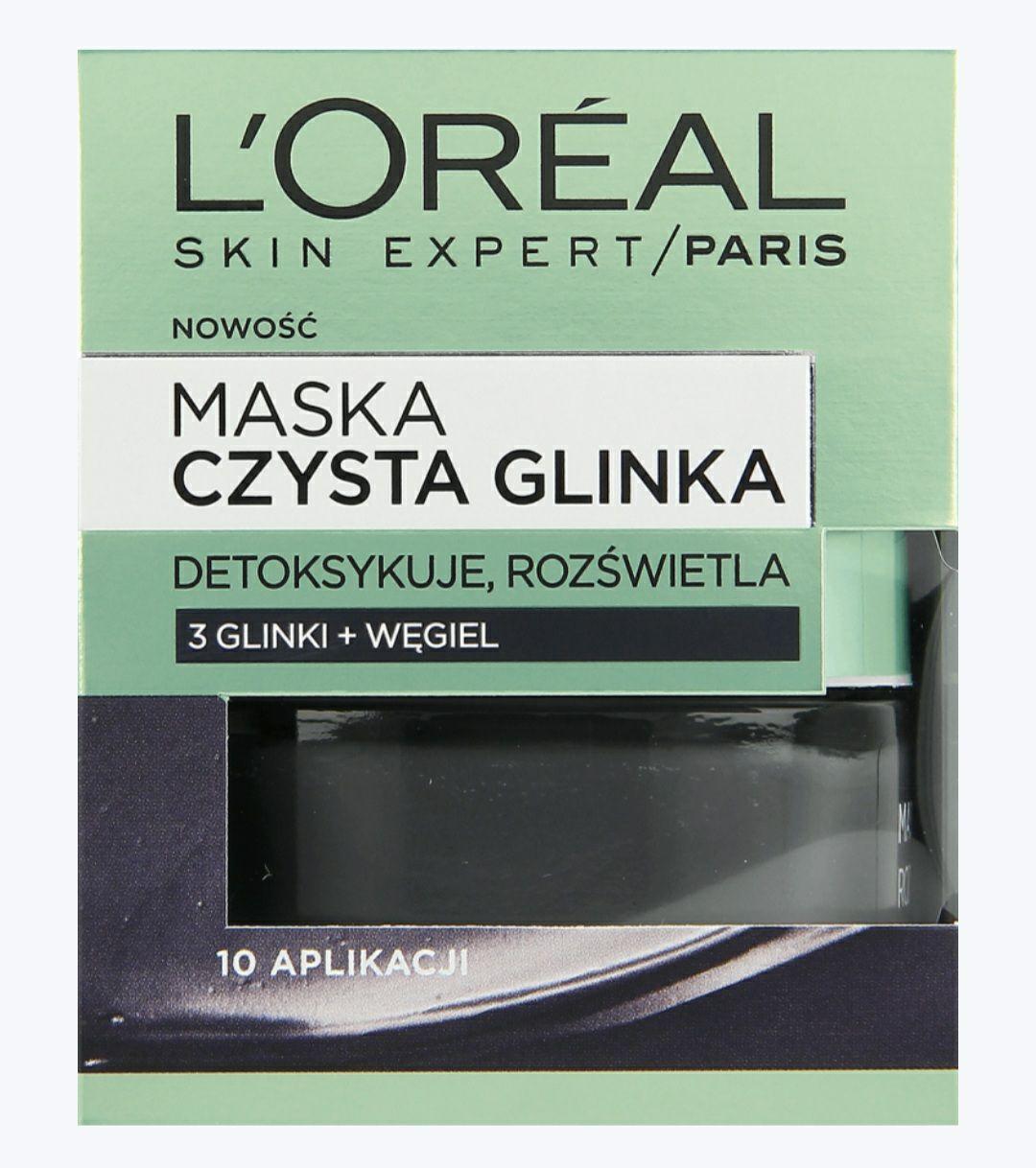 Rossmann Maska do twarzy Loreal detoksykująco-rozświetlająca