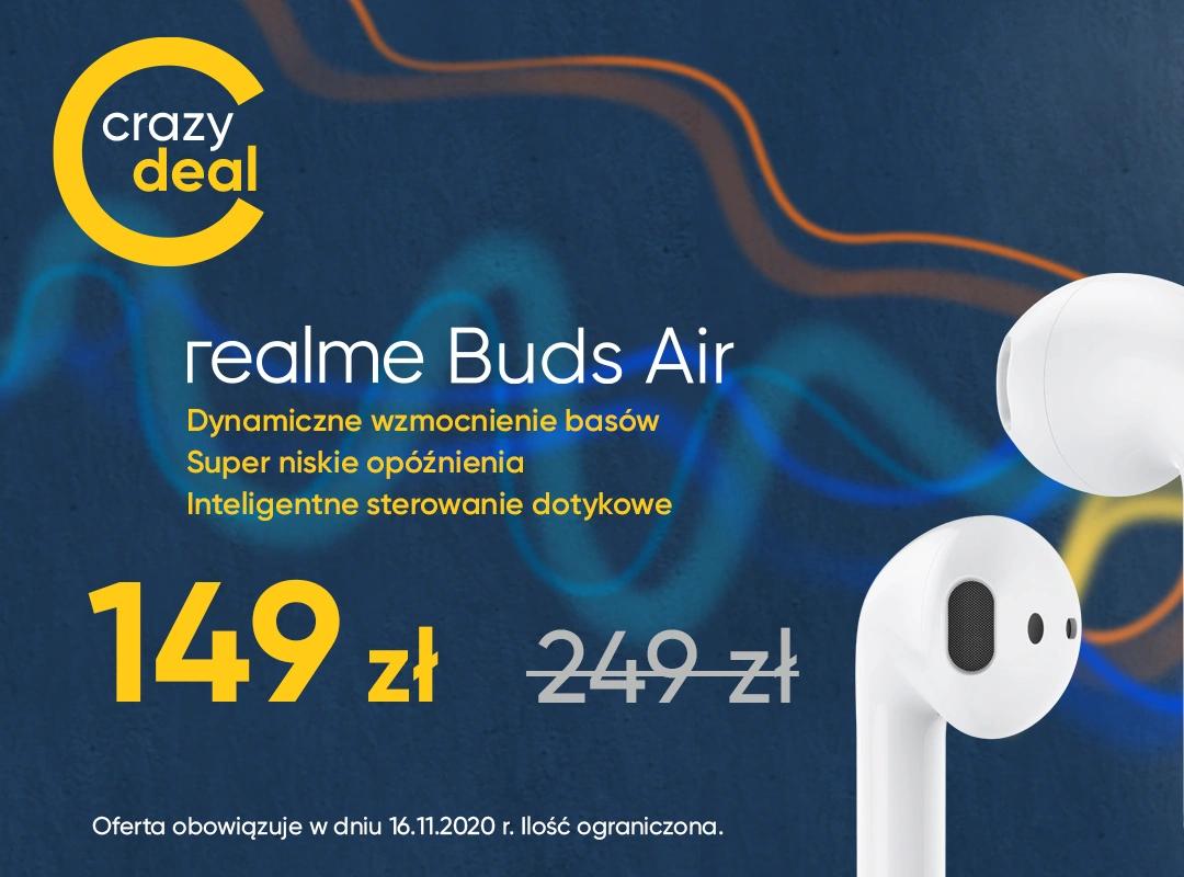 Słuchawki bezprzewodowe realme Buds Air @sklep-realme.pl