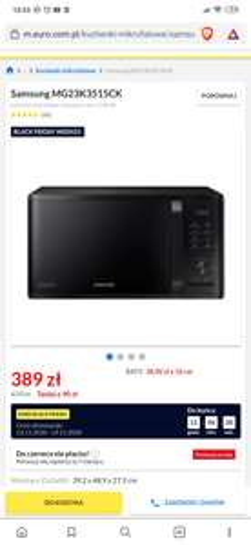 Promocja na mikrofalówkę Samsung