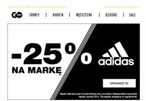 Minimum 25% taniej Adidas
