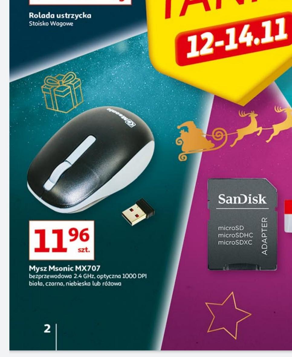 Myszka bezprzewodowa Msonic MX707 + 20% na kartę Skarbonka