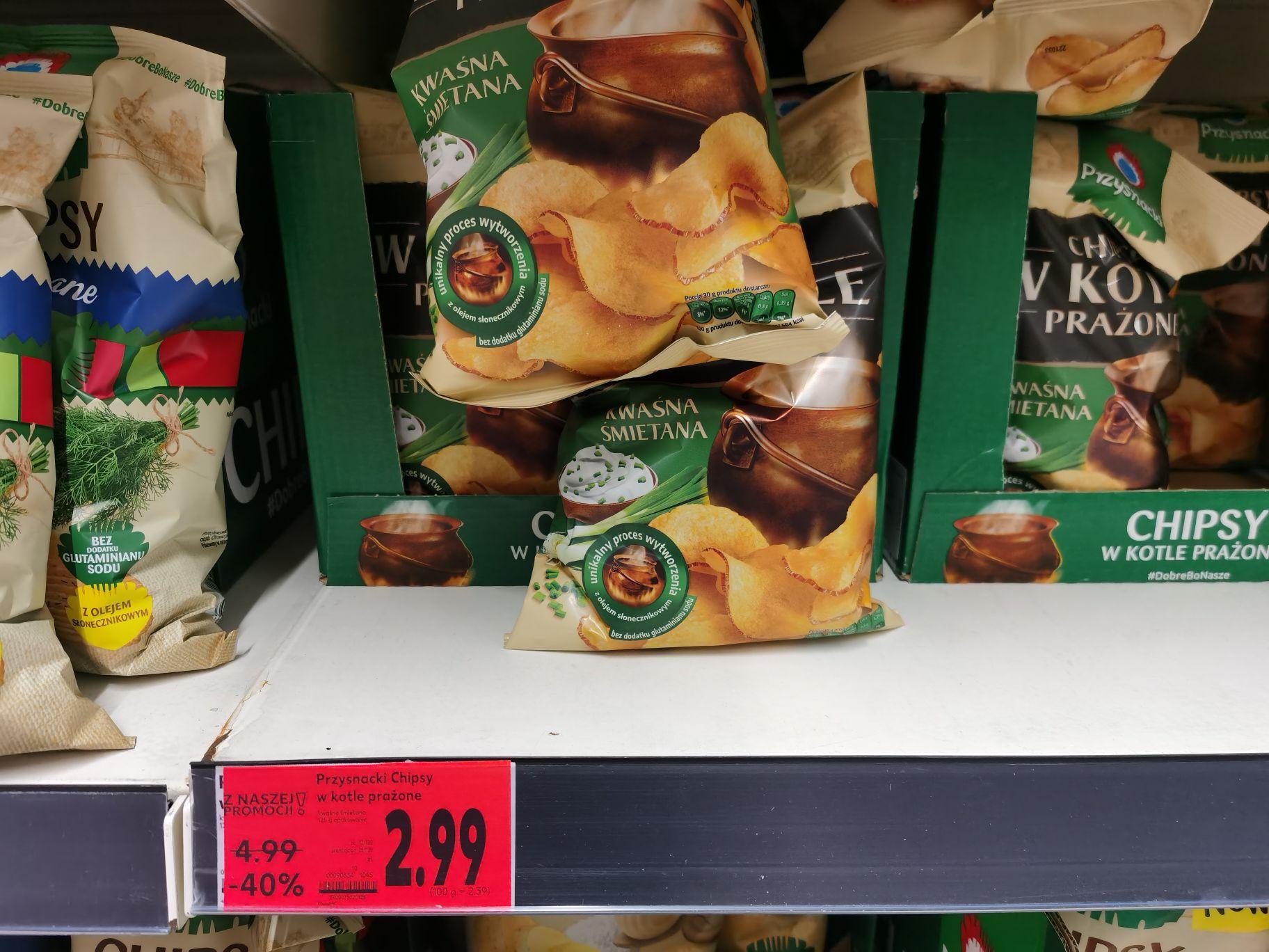 Chipsy w kotle prażone 125g - różne smaki, Kaufland