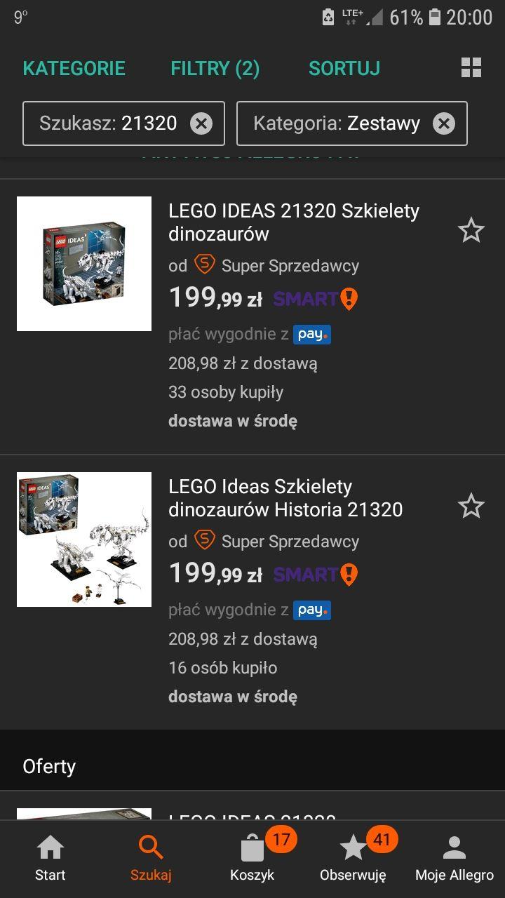 Lego Ideas 21320 Szkielety dinozaurów - przegląd ofert
