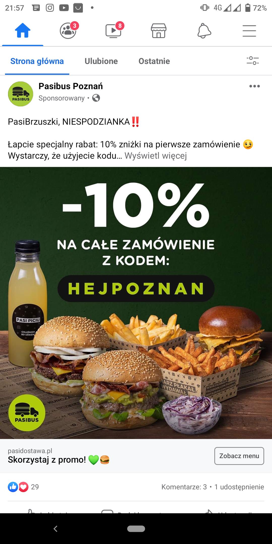 Pasibus Poznań - 10% na pierwsze zamówienie