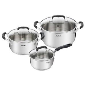 Zestaw garnków TEFAL E493S674 Cook & Cool Pans, również na indukcję