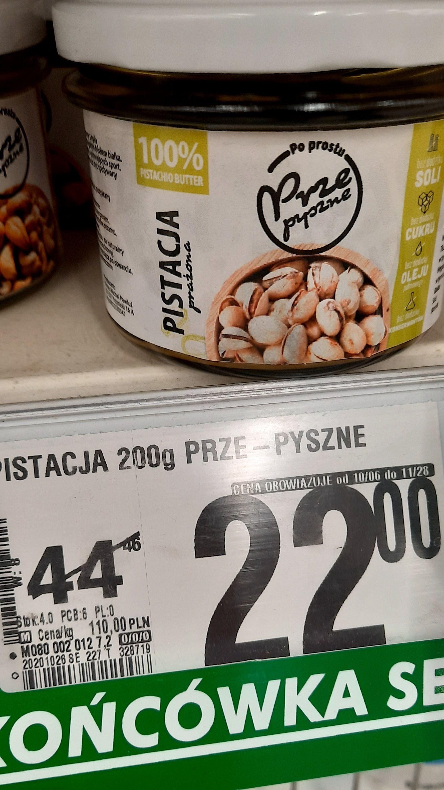 Krem Orzechowy PRZE-PYSZNE 200g / 100% Orzechy pistacjowe prażone - Auchan Ursynów