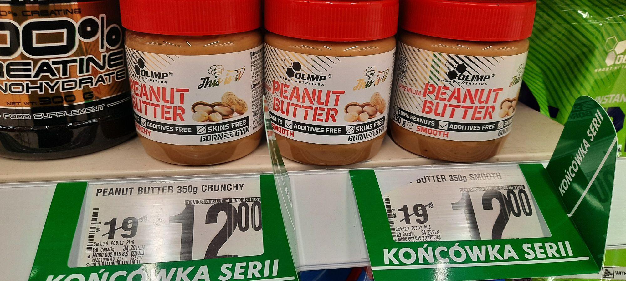 Olimp - Masło orzechowe 350g (Smooth, Crunchy) - Auchan Ursynów