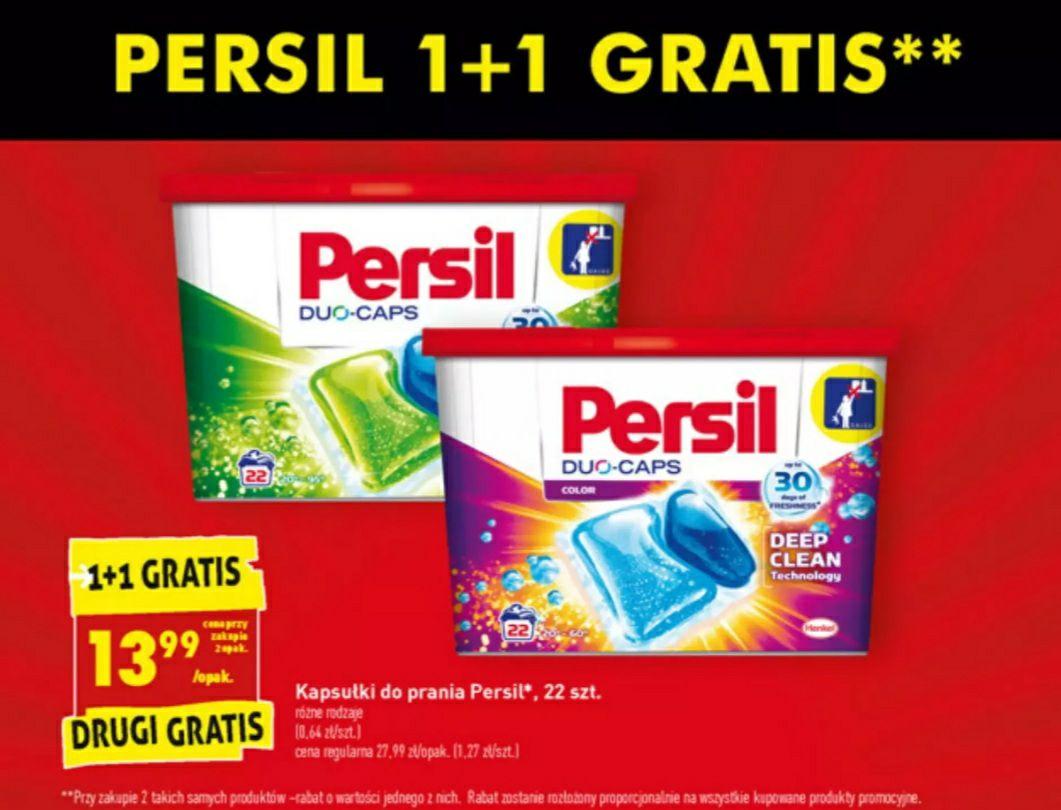 Kapsułki Persil 1+1 Gratis W Biedronce (cena 1 opakowania przy zakupie dwóch)