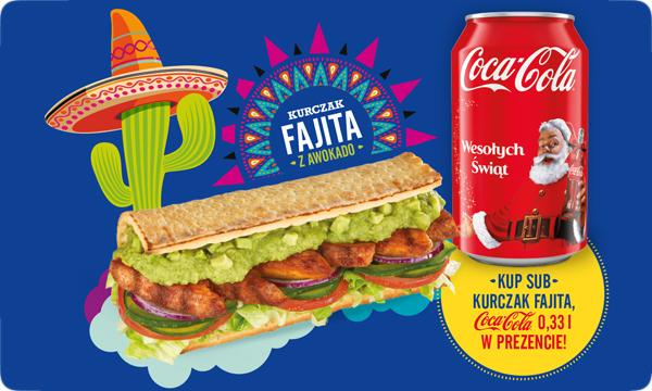 Puszka Coca-Coli gratis do Kurczaka Fajita @ Subway