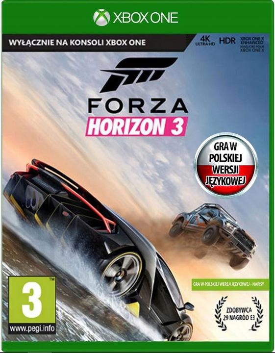 FORZA HORIZON 3 Polska wersja NOWA -Płyta Xbox ONE