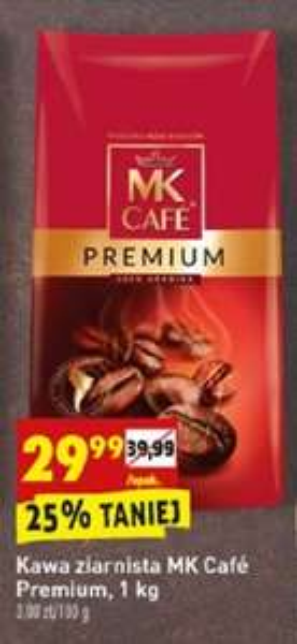 MK CAFE Premium 1 kg ziarnista w Biedronce