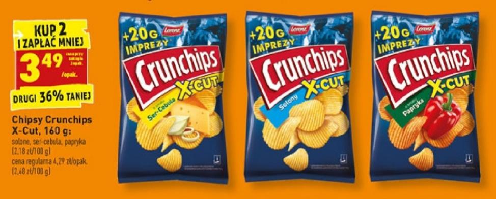 Chipsy Crunchips X-CUT przy zakupie 2 paczek 160 g w Biedronce