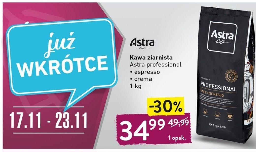 Kawa ziarnista Astra Professional espresso/crema 1kg @Intermarche
