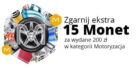 Allegro, +15 Monetprzy zakupach od 200 zł w kategorii Motoryzacja