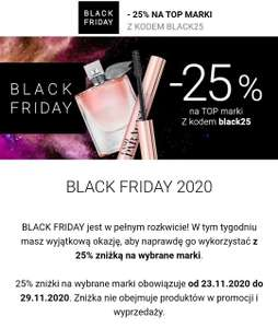 Notino -25% z okazji Black Friday na top marki