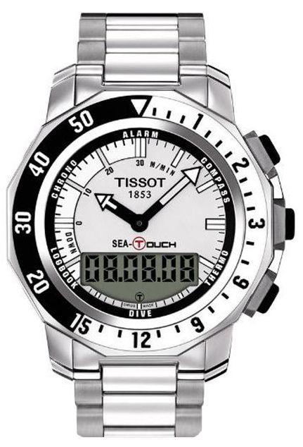 Ciekawy zegarek typu diver Tissot Sea Touch T026.420.11.031.00
