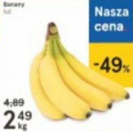 Banany 1kg za 2,49zł. Tesco