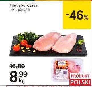 Filet z kurczaka 8,99zł/kg w Tesco