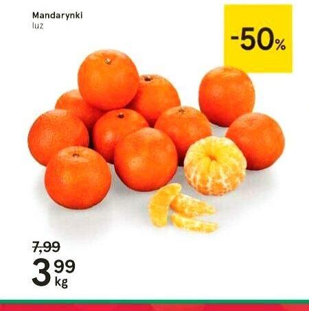 Mandarynki 3,99zł/kg w Tesco