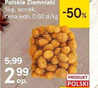 Ziemniaki 5kg za 2,99zł w Tesco