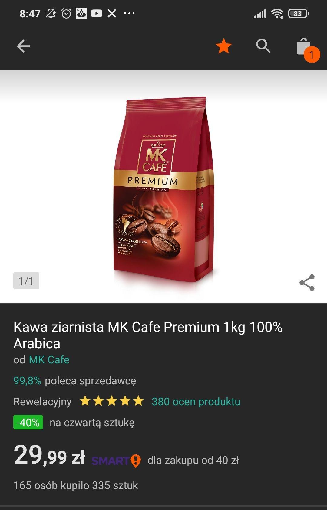 MK Cafe Premium kawa ziarnista 1kg od oficjalnego sklepu