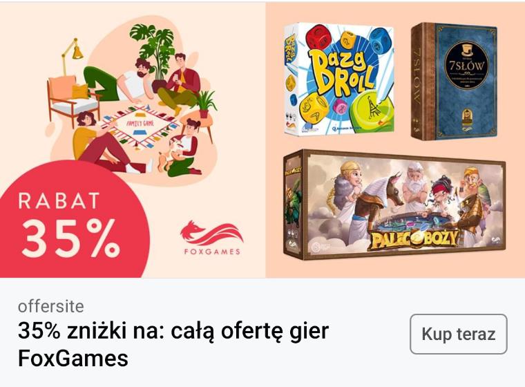 -35% na Bonito na wszystkie gry planszowe od Fox Games