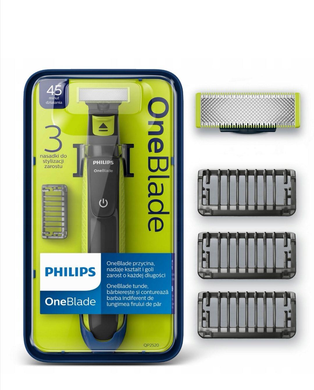 Philips OneBlade golarka QP2520/20 3 NASADKI