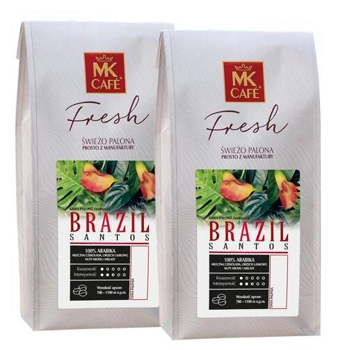 Świeża kawa ziarnista MK Fresh Brazil Santos 2kg