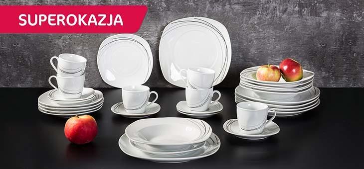 Porcelanowe zestawy obiadowo-kawowe 30 elem. za 89,90zł (osiem wzorów) @ Agata Meble