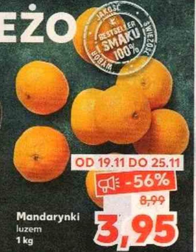 Mandarynki 3,95zł/kg w Kaufland
