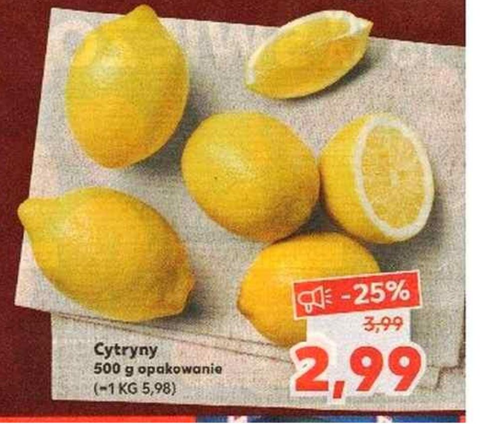 Cytryny 2,99zł/500g w Kaufland