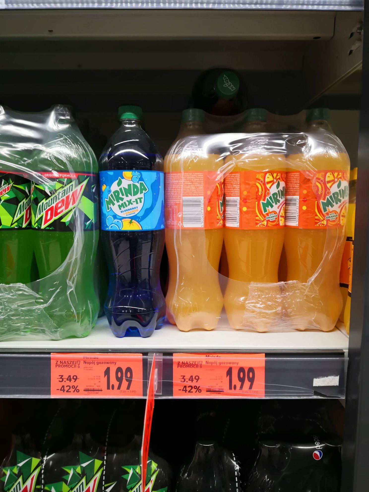 Mirinda, Pepsi 1 litr @ Kaufland Słupsk