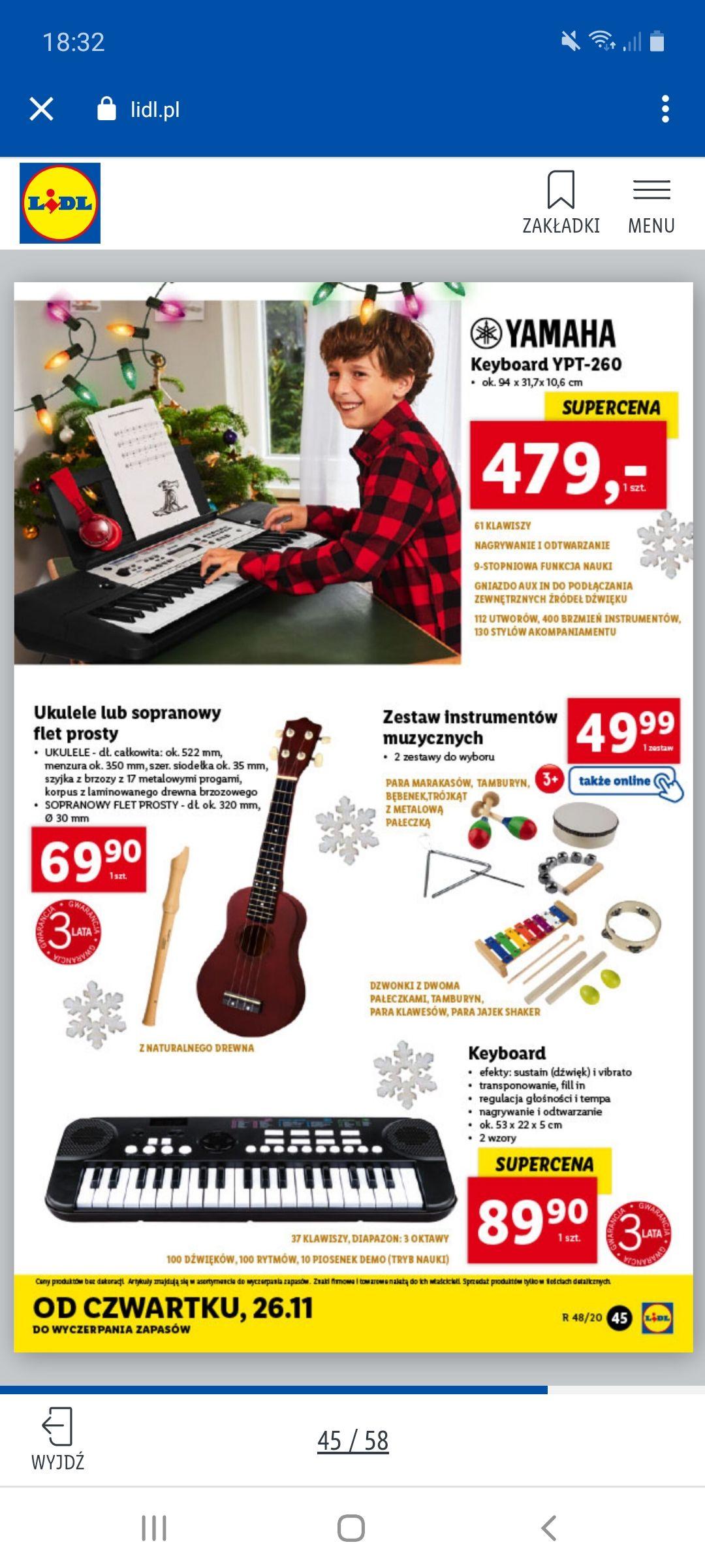 Keyboard Yamaha ypt-260 Lidl