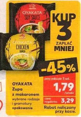 Zupa z makaronem OYAKATA 1,79zł przy zakupie 3 - Kaufland