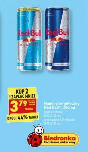 Red Bull 3,79zł przy zakupie 2szt