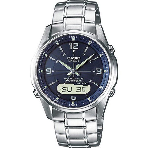 zegarek Casio Lineage LCW-M100DSE-2AER, solar, szafir, RC, pełna stal szlachetna