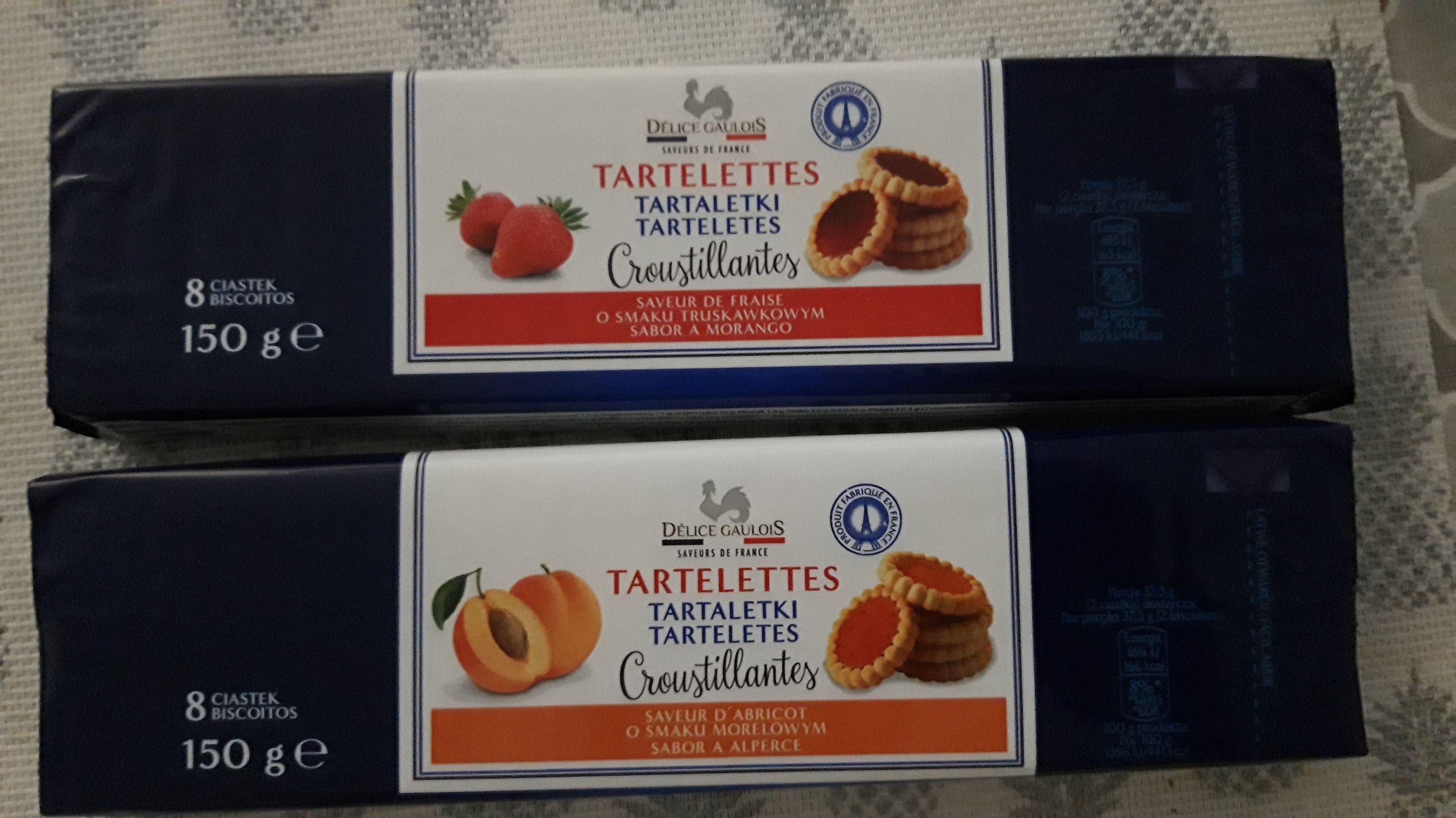 Tartelettes/Tartaletki 150g, morelowe/truskawkowe, Biedronka