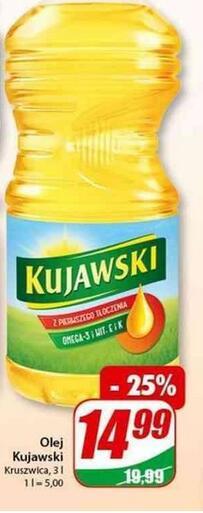 Olej kujawski 14,99zł/3L - Dino