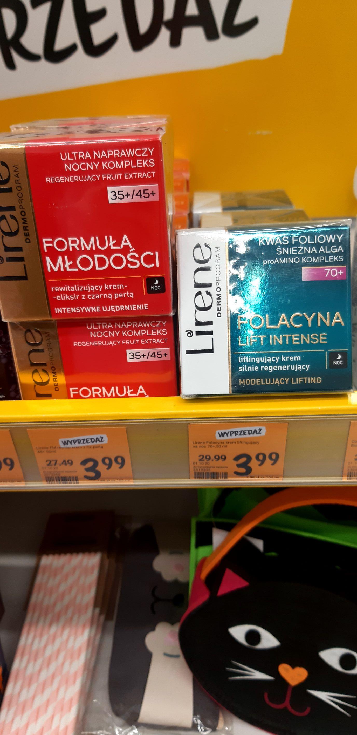 Wyprzedaż kremów Lirene i innych kosmetyków Rossmann Gliwice
