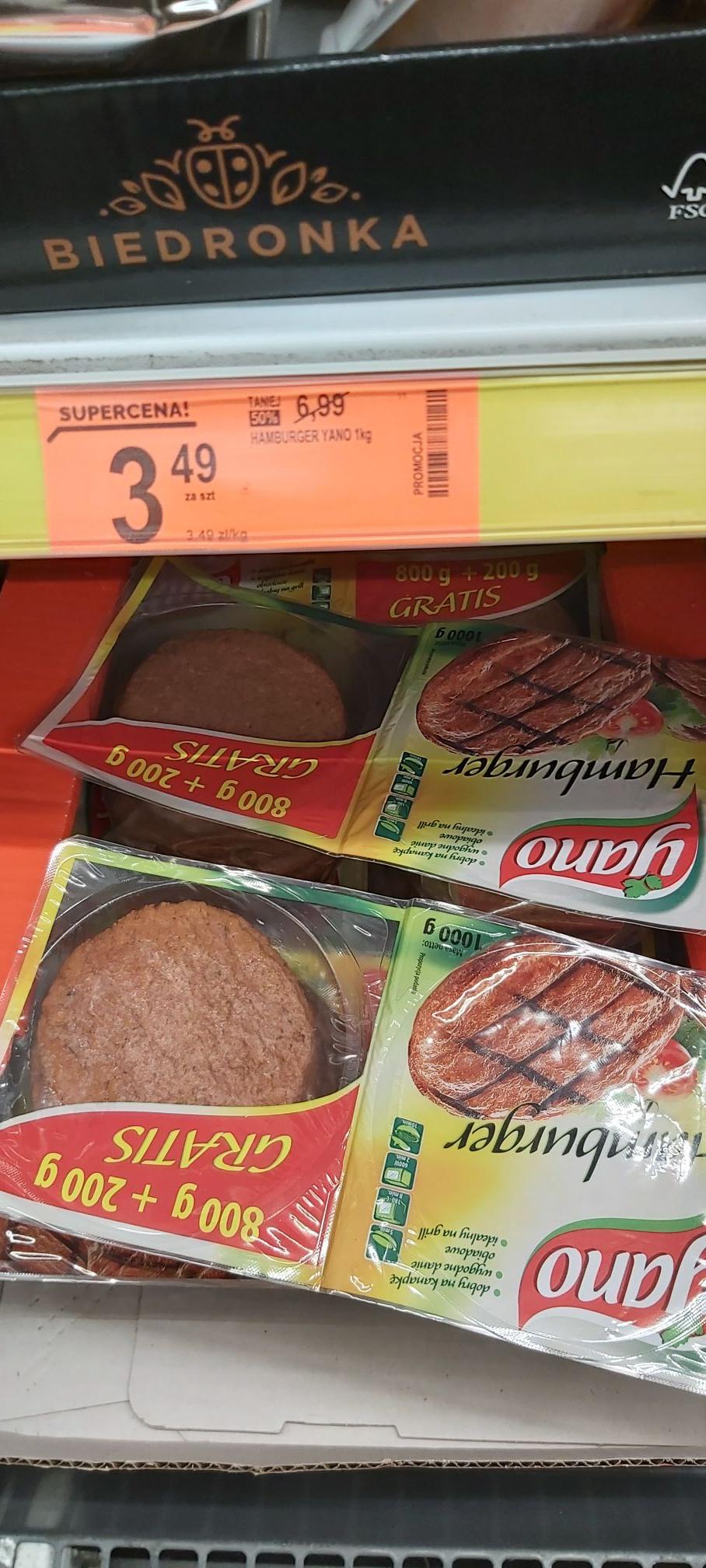 Hamburgery yano biedronka