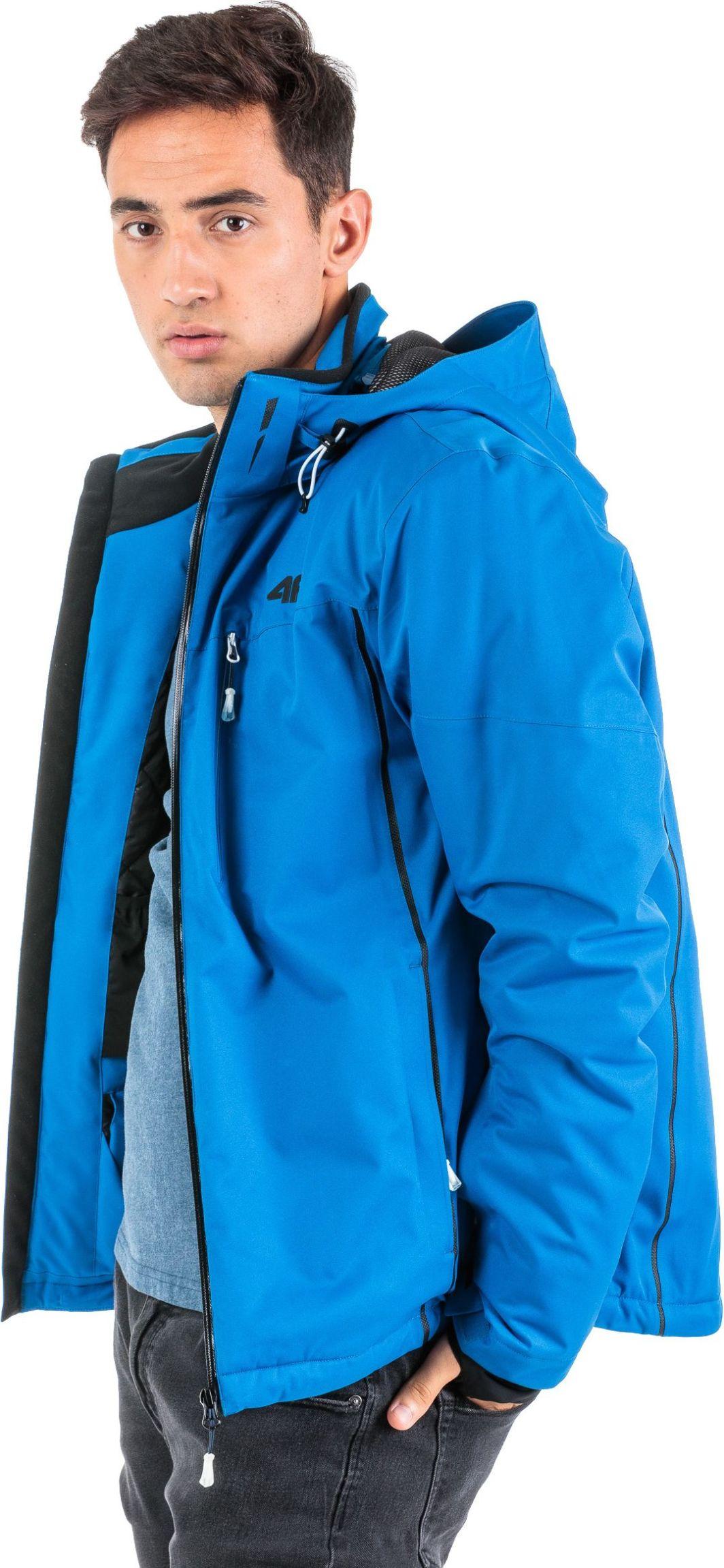 4f Kurtka narciarska męska H4Z18-KUMN008 niebieska r. XL