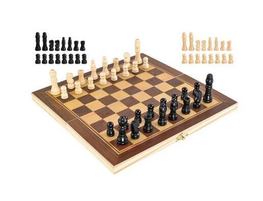 Klasyczne SZACHY drewniane gra