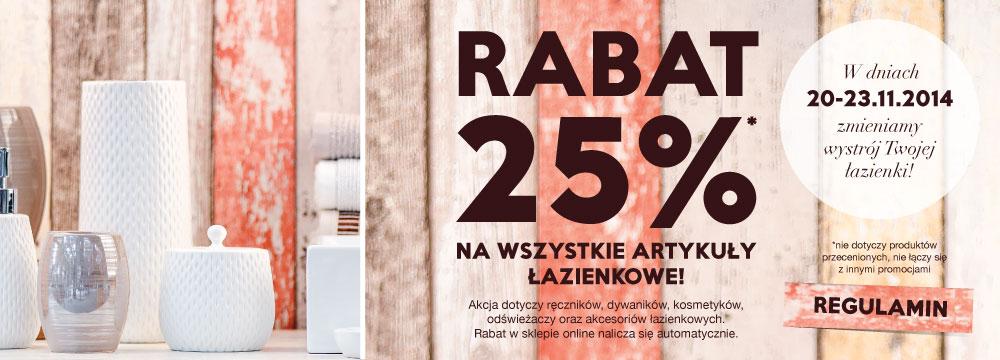 -25% na artykuły łazienkowe @ Home&you
