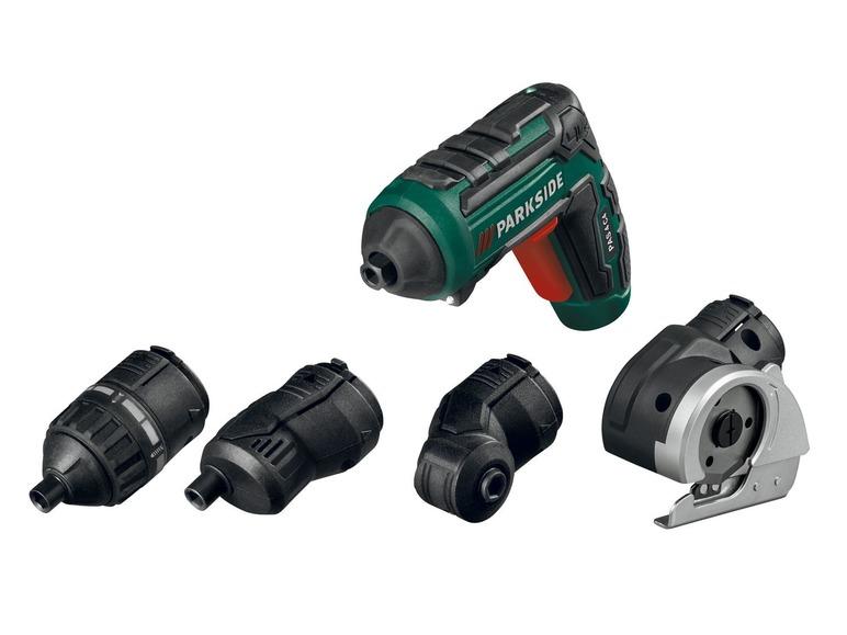 PARKSIDE® Akumulatorowa wkrętarka 4 V PAS 4 C4 + 4 nasadki @LIDL online