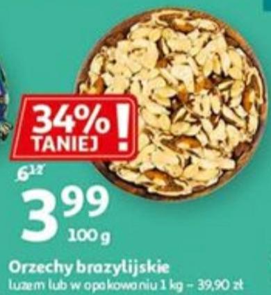 Orzechy brazylijskie 1kg Auchan + możliwość zwrotu 10% na kartę Skarbonka