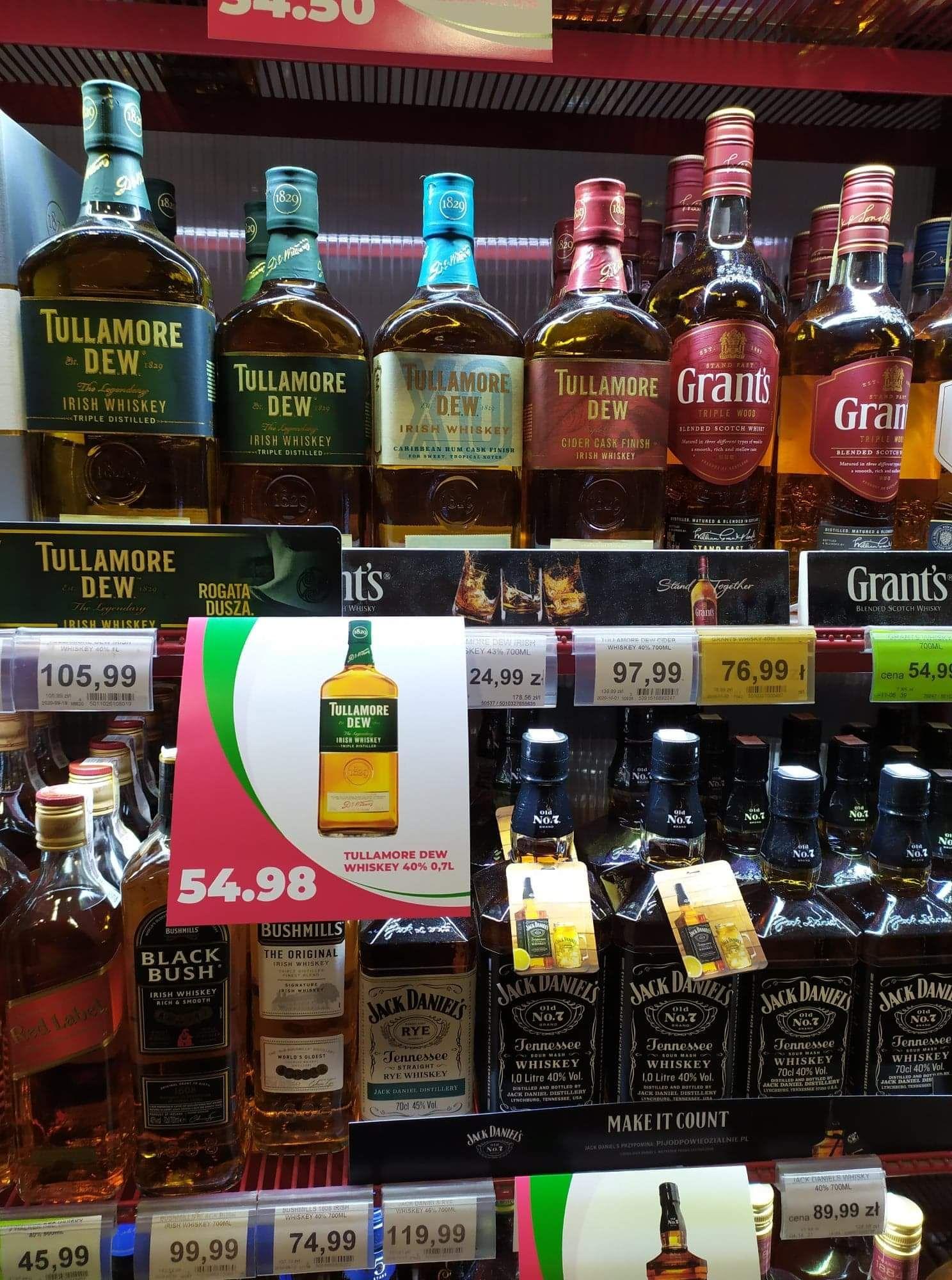 Whisky whiskey TULLAMORE DEW 0,7L 54,98zł Paluszek Toruń