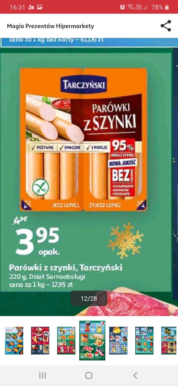 Parówki z szynki Tarczyński - Auchan