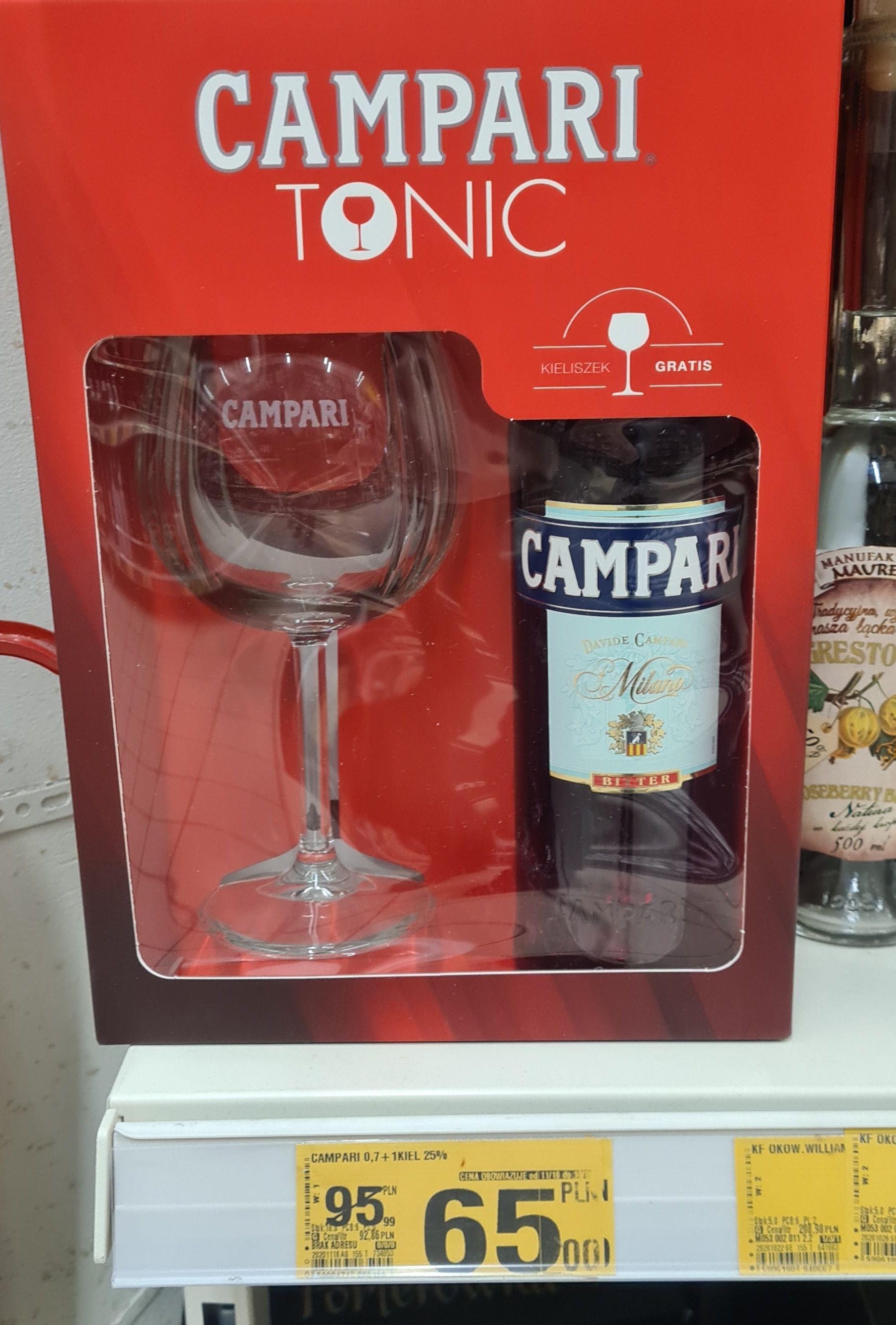 Campari Tonic 0.7 + kieliszek