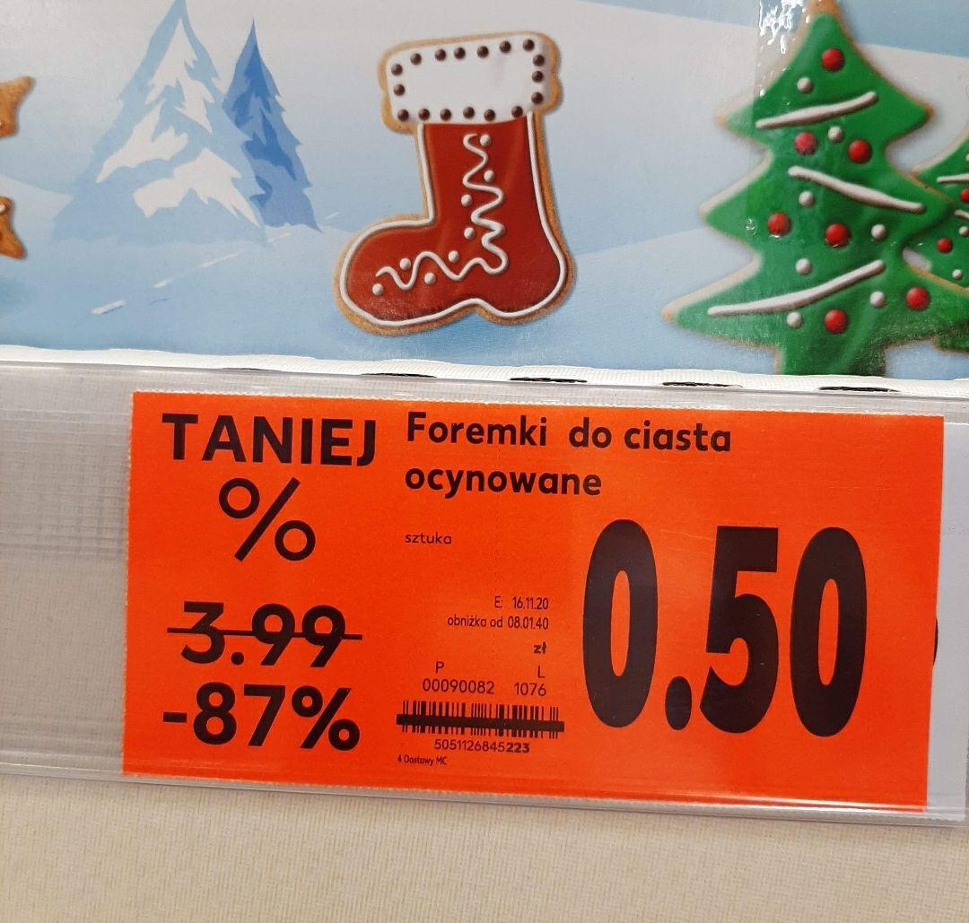 Kaufland Foremki świąteczne wykrawacze do ciastek Boże Narodzenie